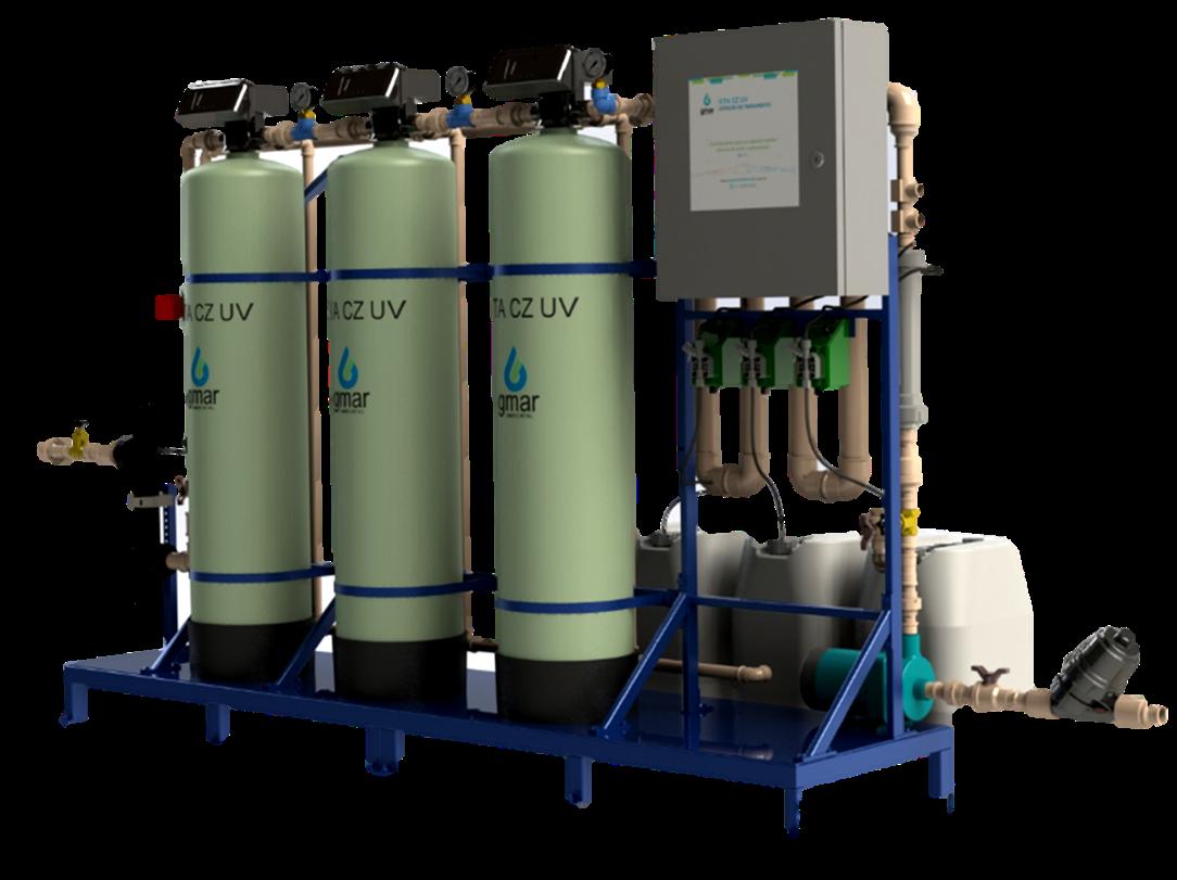 Gmar Ambiental - ETA CZ UV - Estação para Tratamento de Águas Cinzas por ação Ultravioleta