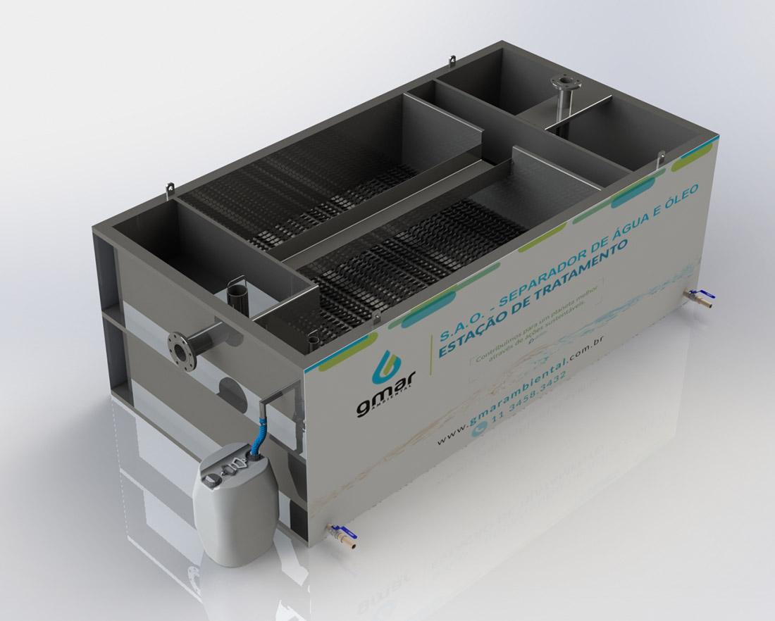 Gmar Ambiental - S.A.O - Separador de Água e Óleo - 02